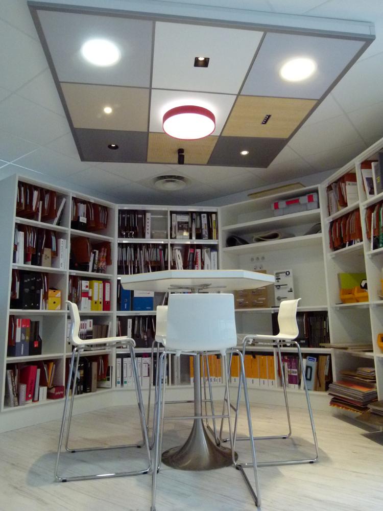 mini show room dans les nouveaux bureaux de copernic