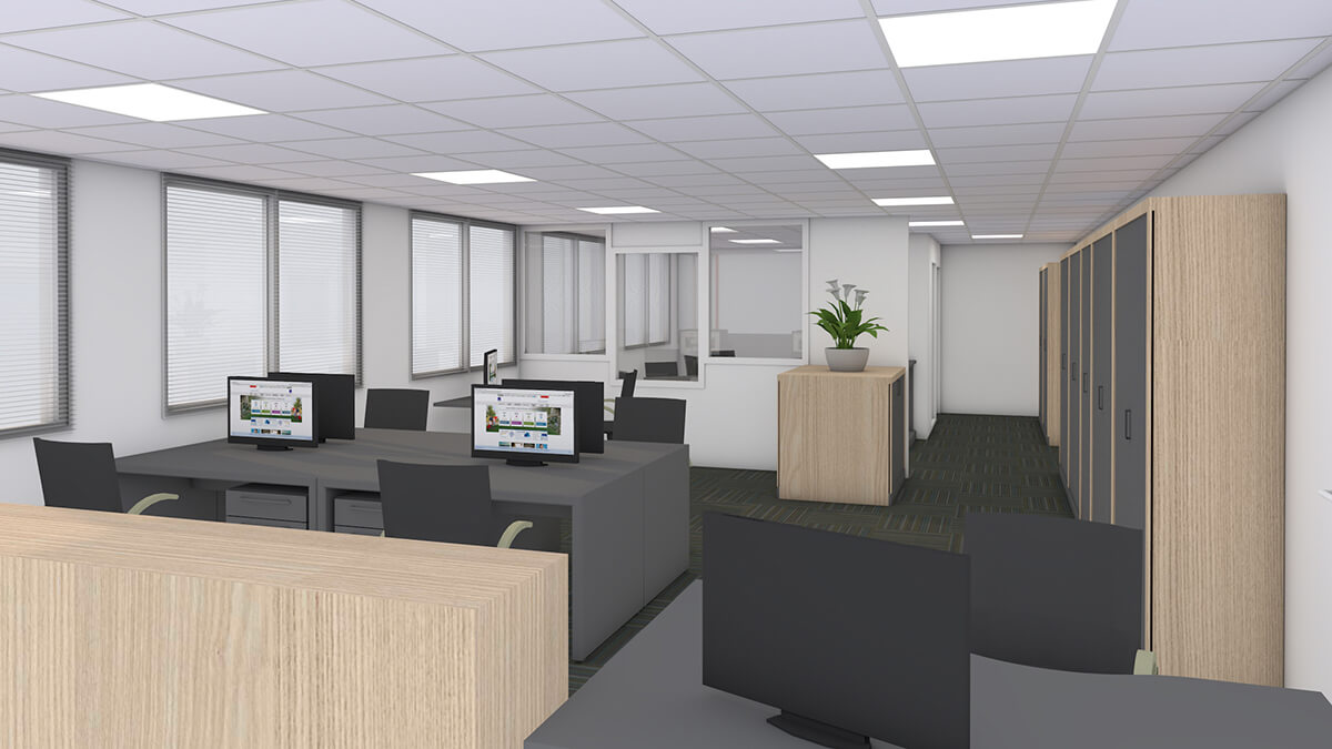 bureaux pour le cabinet d'assurances