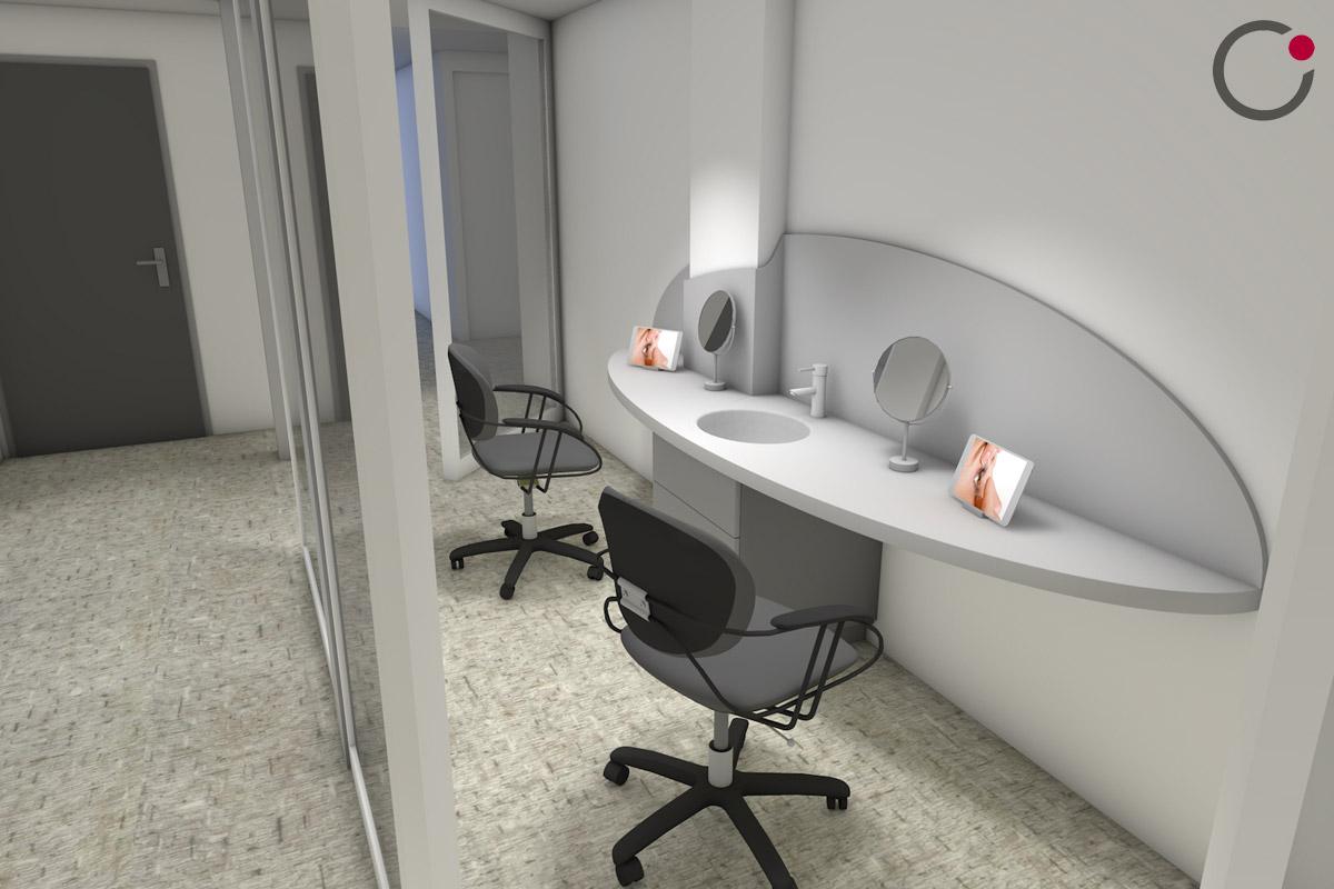 Aménagement d'un cabinet d'ophtalmologie et contactologie à Annecy - Copernic Architecture d'intérieur