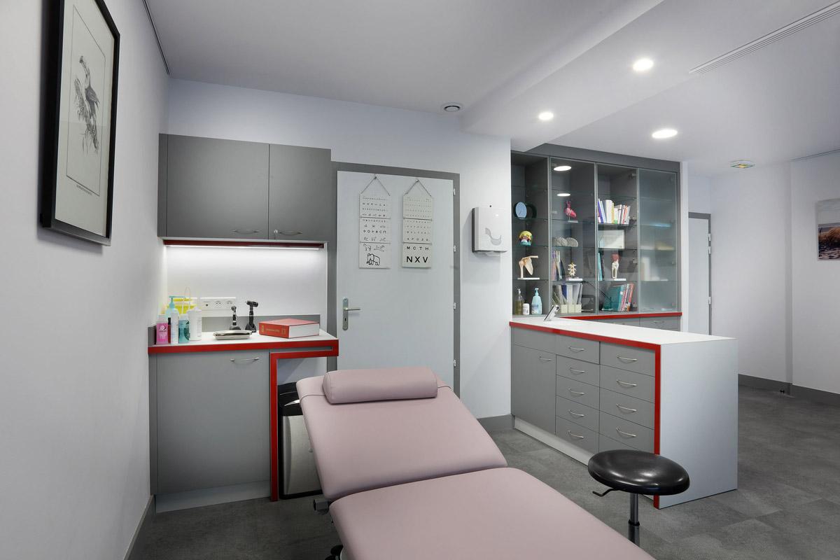 Agencement d'un cabinet de médecine générale - Dr Kern - Copernic - architecture intérieure