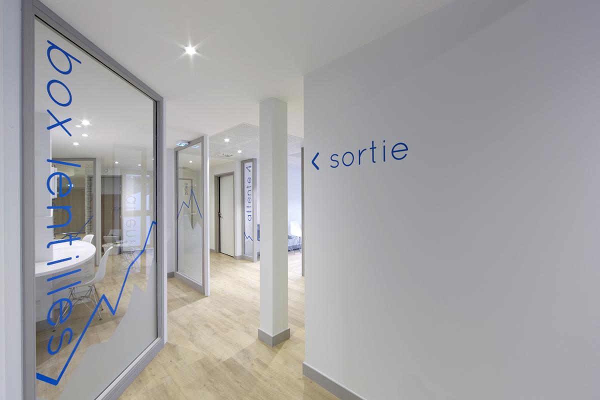 aménagement cabinet ophtalmo maison médicale - Copernic - Architecture intérieur