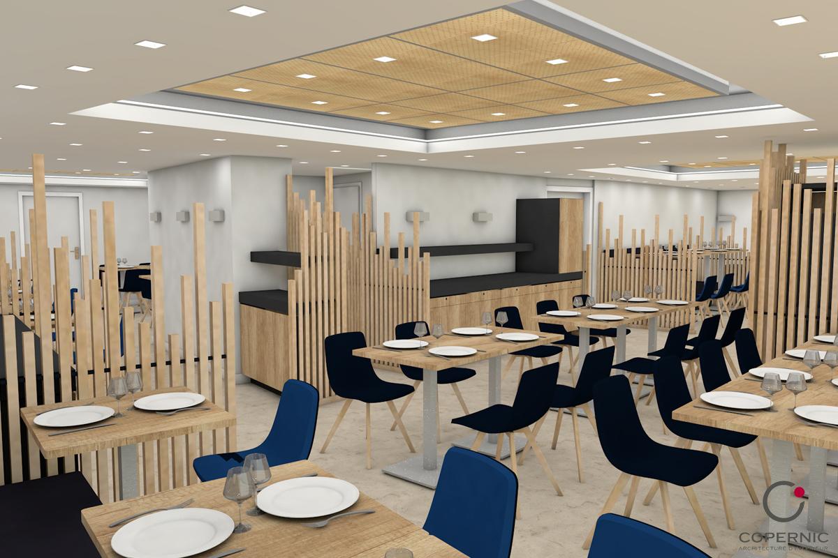 étude rénovation restaurant 3D - Copernic - Architecture d'intérieur