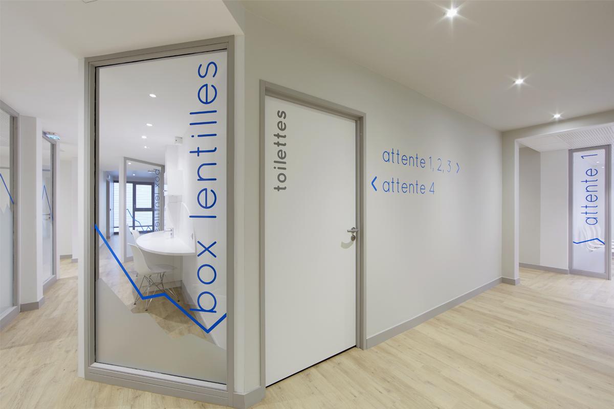 signalétique cabinet ophtalmologie Haute Savoie - Copernic