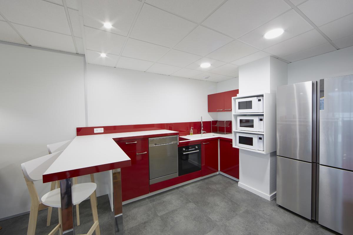 aménagement d'une cuisine d'entreprise - Copernic - architecture d'intérieur
