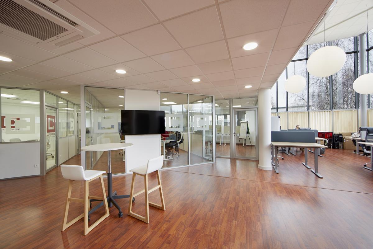 rénovation partielle de bureaux - Copernic - architecture intérieure
