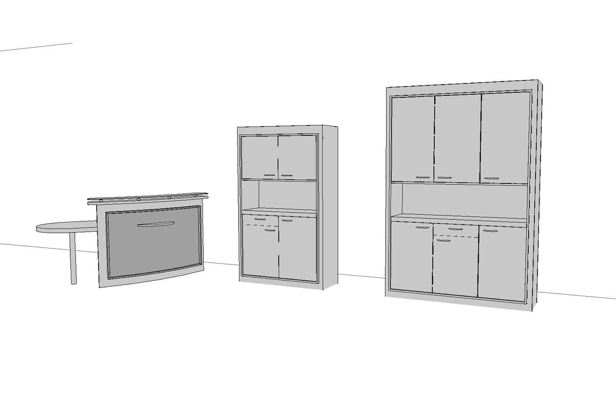 accueil mobilier sur mesure - Copernic - architecture d'intérieur