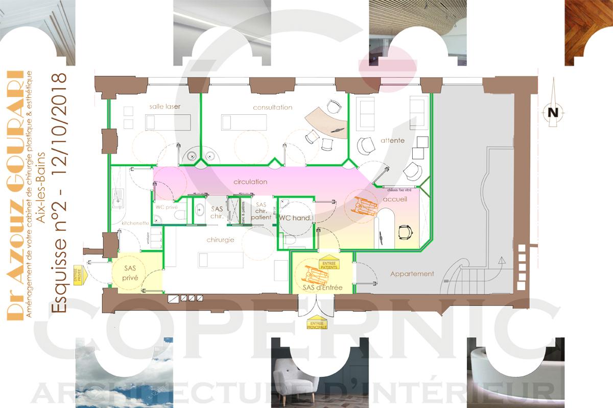 aménagement d'un cabinet de médecine esthétique - Copernic - architecture d'intérieur