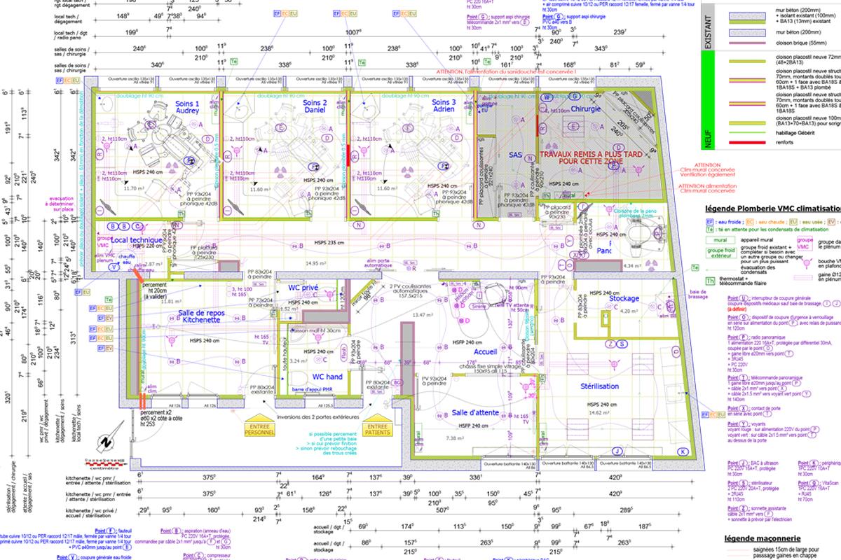 création d'un cabinet dentaire - Copernic - architecture intérieur