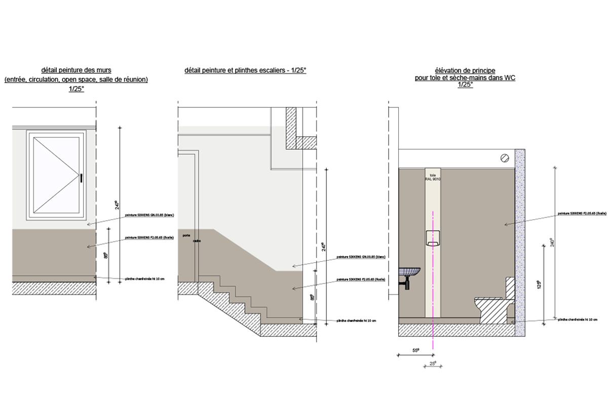 détails pour les revêtements muraux - Copernic - architecture d'intérieur