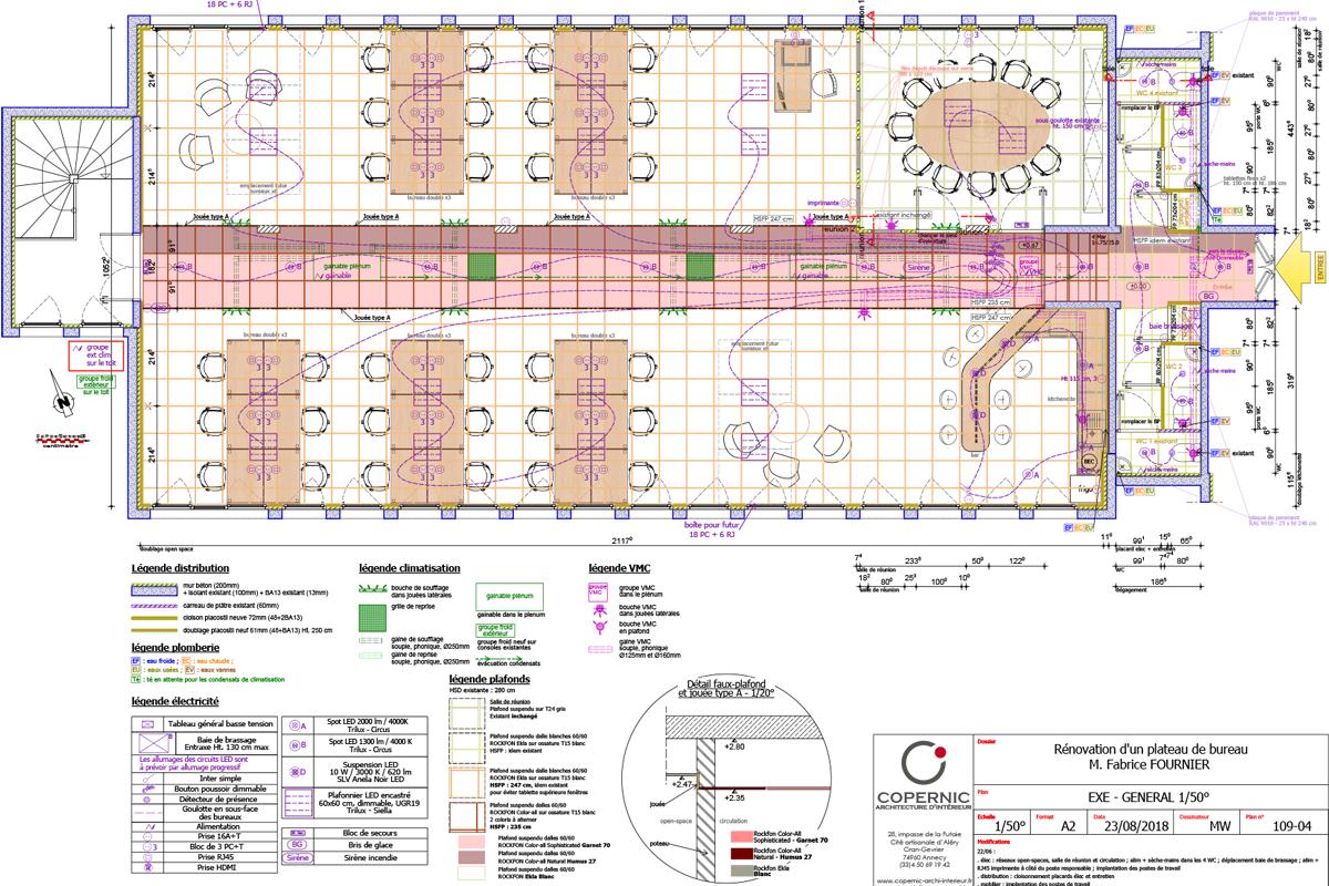 rénovation totale d'un plateau de bureaux en Haute-Savoie - Copernic - architecture d'intérieur