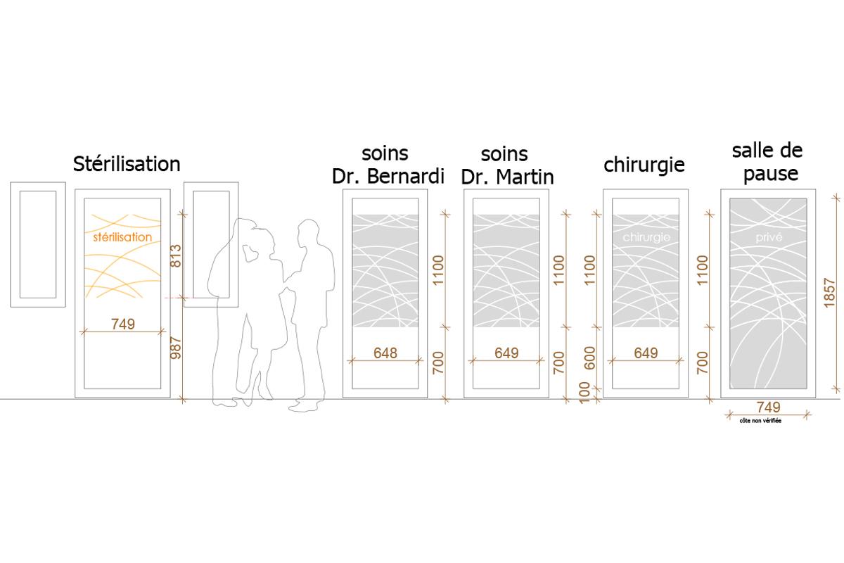 signalétique pour un cabinet dentaire - Copernic - architecture intérieur