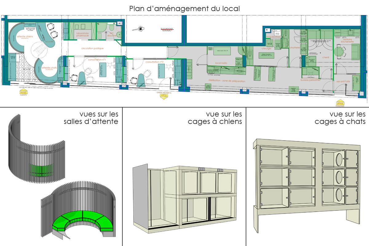création d'une clinique vétérinaire en Savoie - Copernic - architecture d'intérieur