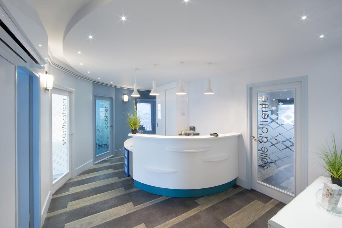 rénovation de l'accueil d'un cabinet dentaire - Copernic - architecture intérieur