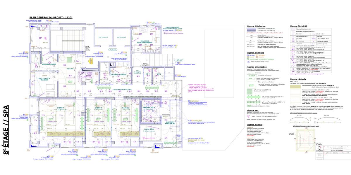 création d'un spa avec cabines de massage - Copernic - architecture d'intérieur