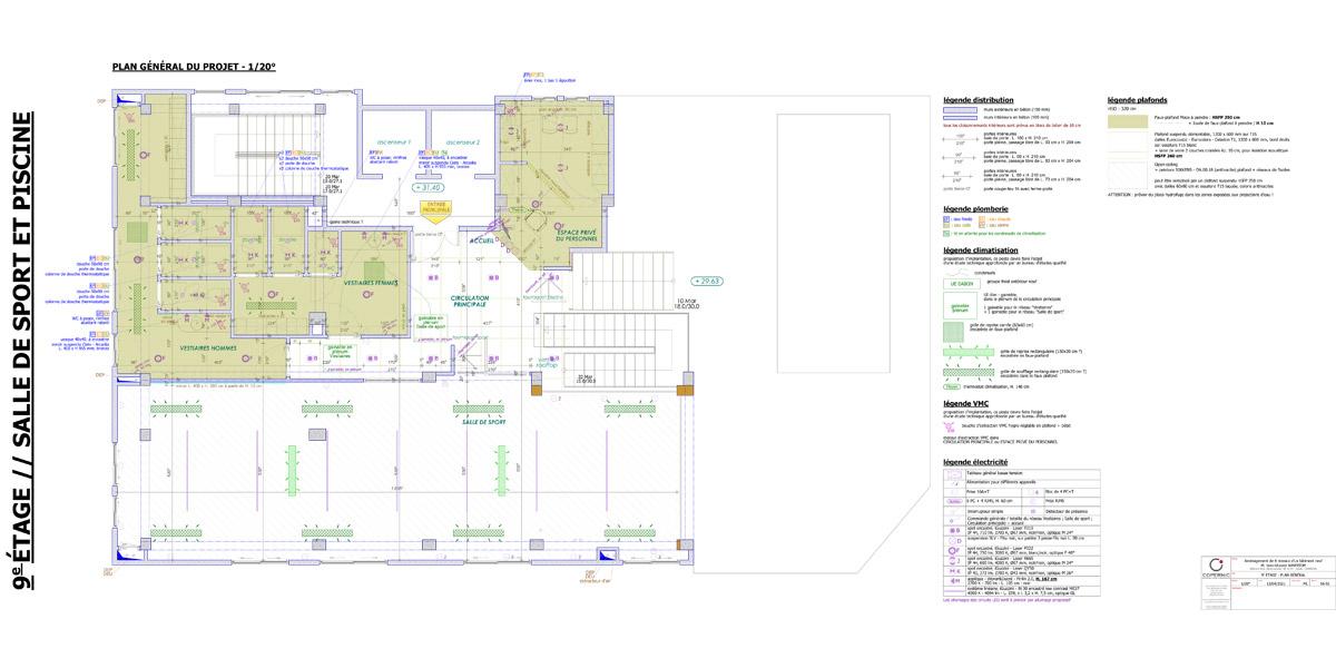 plan général pour les services de bien-être - Copernic - architecture d'intérieur
